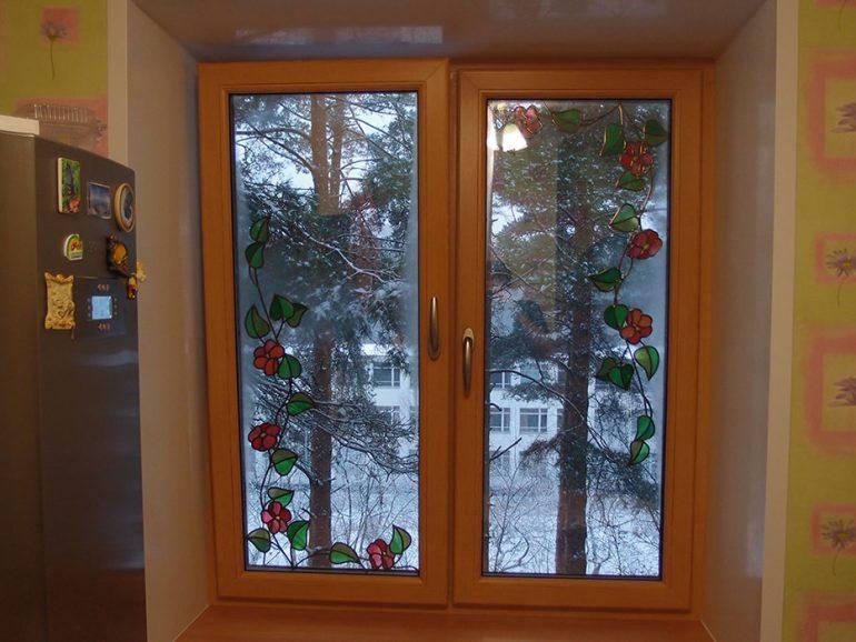 Окно с художественным витражом